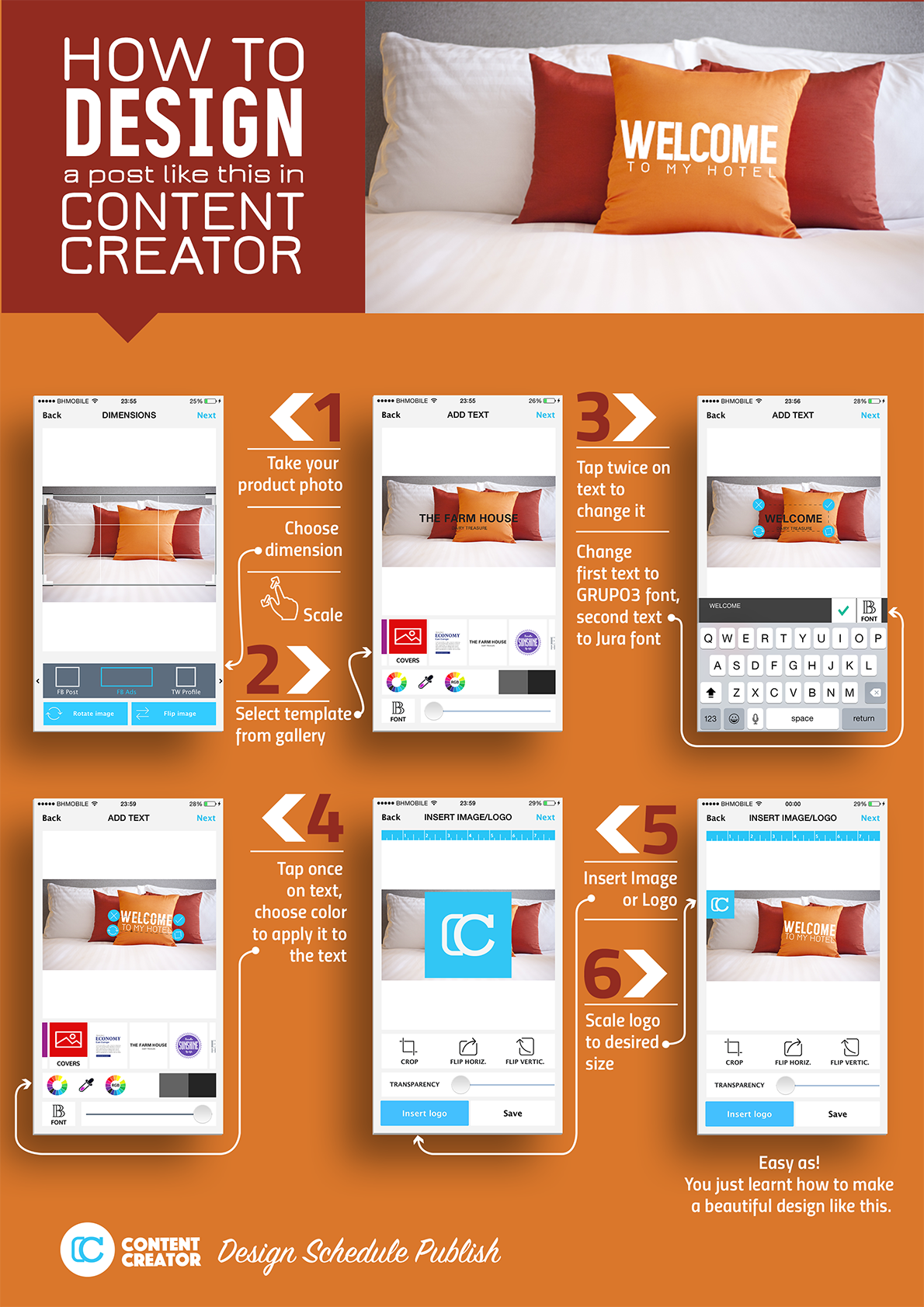 How to design 5 star posts like this with content creator app Blueprint creator app